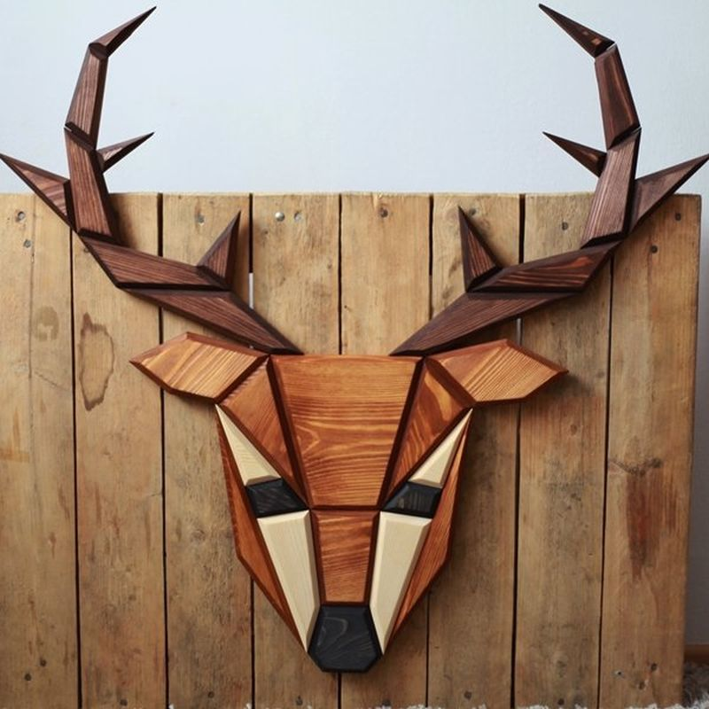 Wooden Taxidermy Trophies