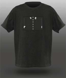 Animated Atari Pong T-Shirts (For Geeks)