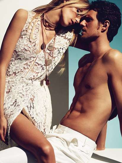 Anja and Sasha for Vogue Germany June 2011
