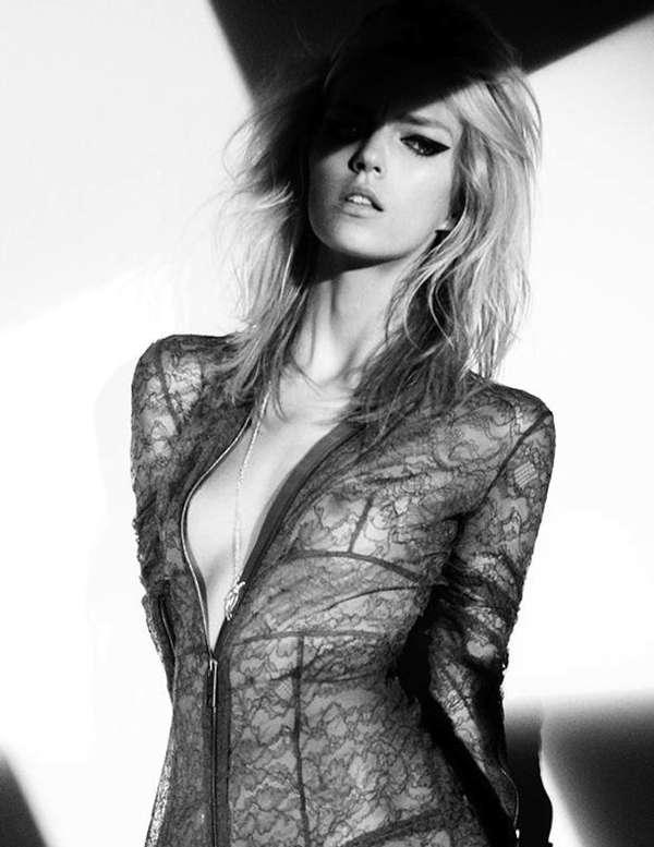 Black Lace Bodysuits