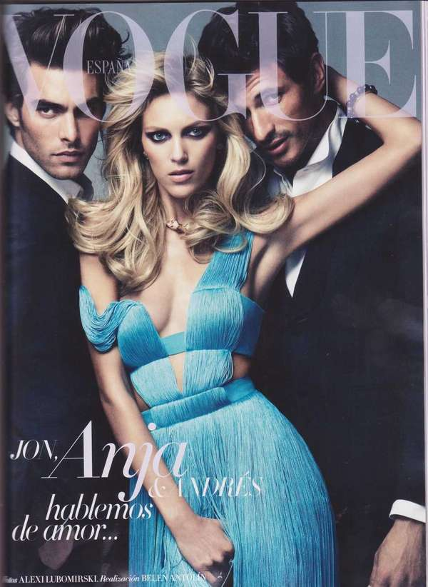 Crotch grabbing covers anja rubik vogue spain march 2011 for Rubik espana