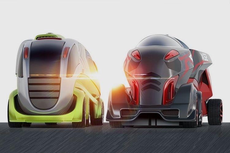 Oversized Miniature Racing Vehicles