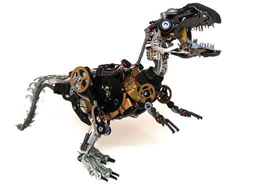 Upcycled Animal Sculptures