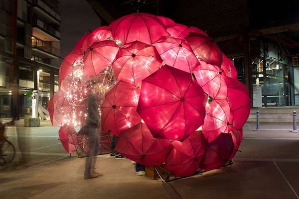 Sparkling Umbrella Installations