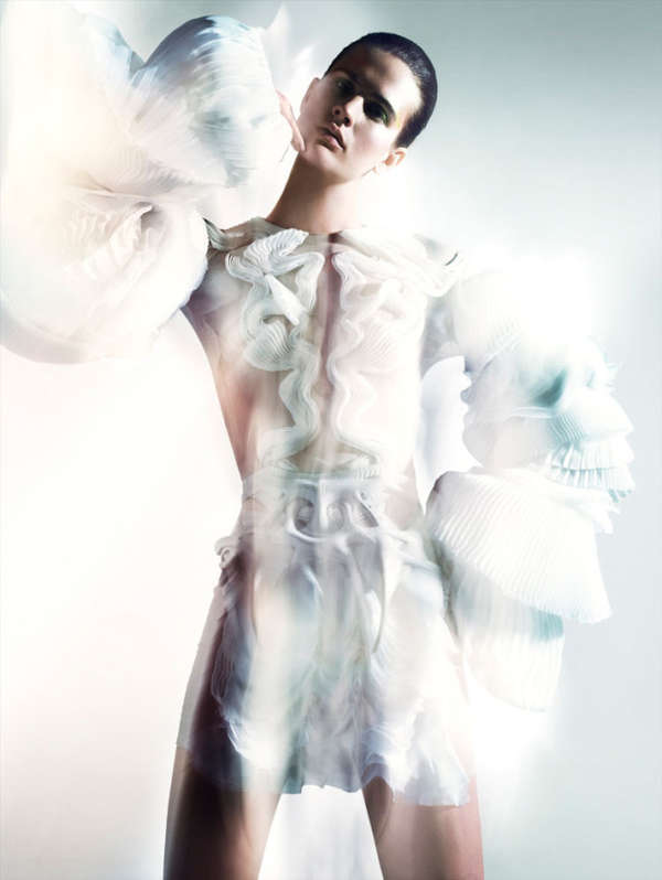 Illuminated Futuristic Fashion Ads
