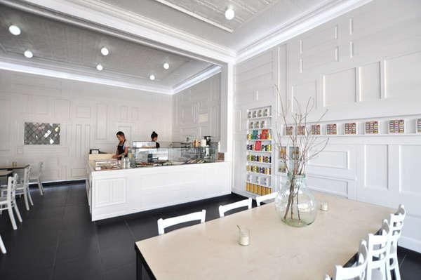 Cozy Recycled Door Cafes