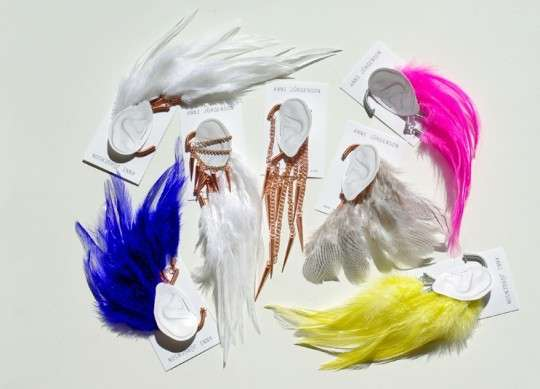 Feathered Faux Earrings