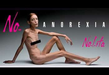 Anorexia Billboard Shocks Milan Fashion Week