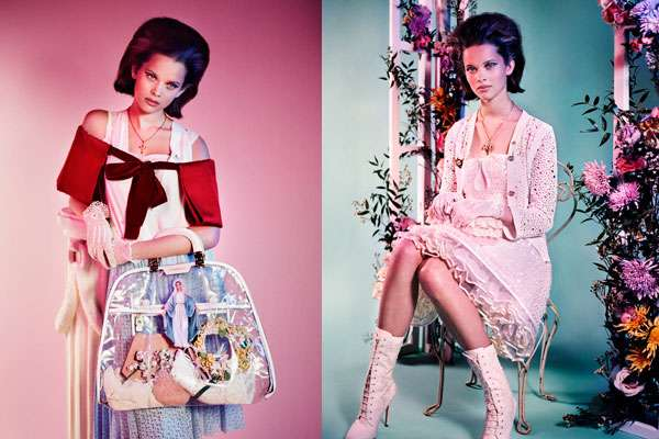 Rosy Retro Editorials