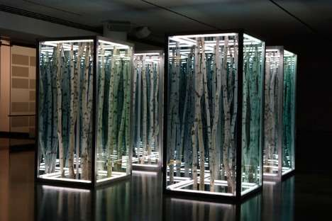 Infinite Forest Sculptures