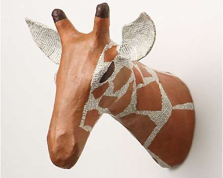 Papier-Mache Animal Busts