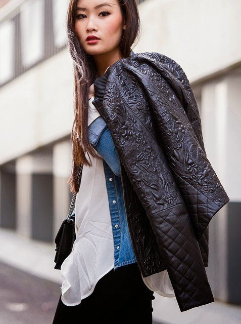 Floral Leather Jackets