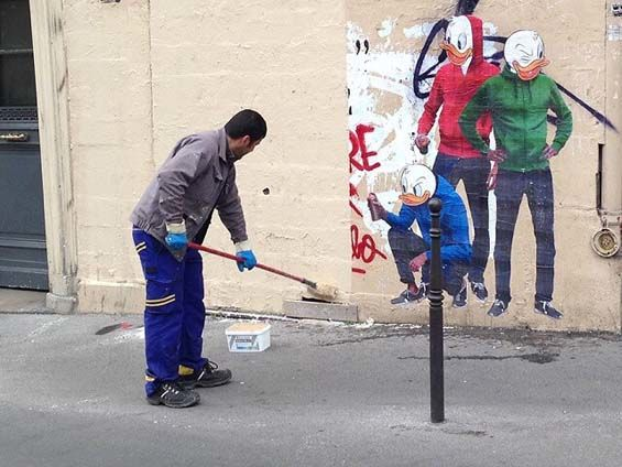 Anti-Street Art Graffiti
