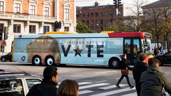 Political Bus Ads