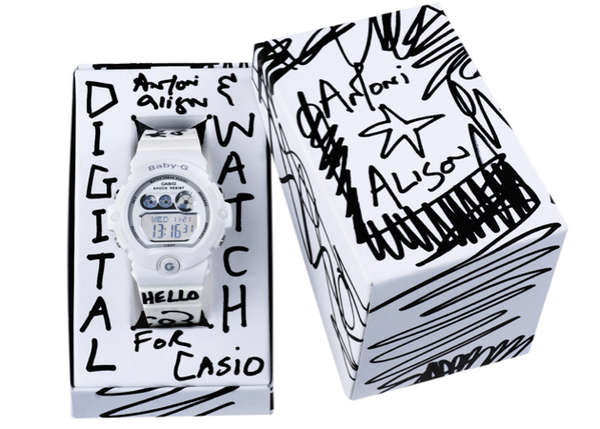 Monochromatic Graffiti Timepieces