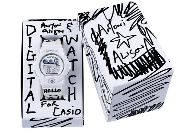 Monochromatic Graffiti Timepieces