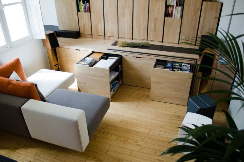 Miniature Transforming Apartment Spaces