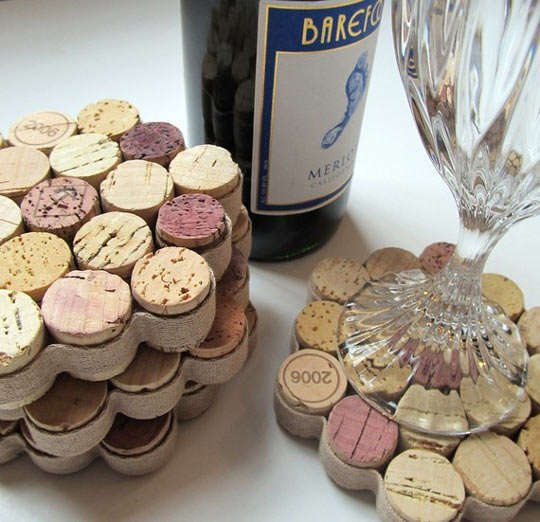 DIY Cork Coasters - Make Some Affordable Home Decor Items Using