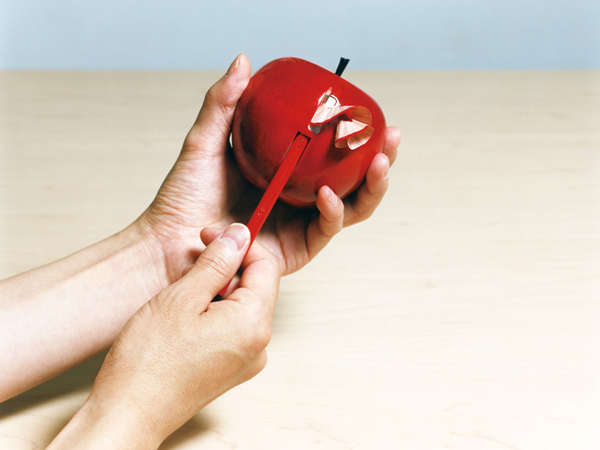 Apple-Peeling Pencil Sharpeners