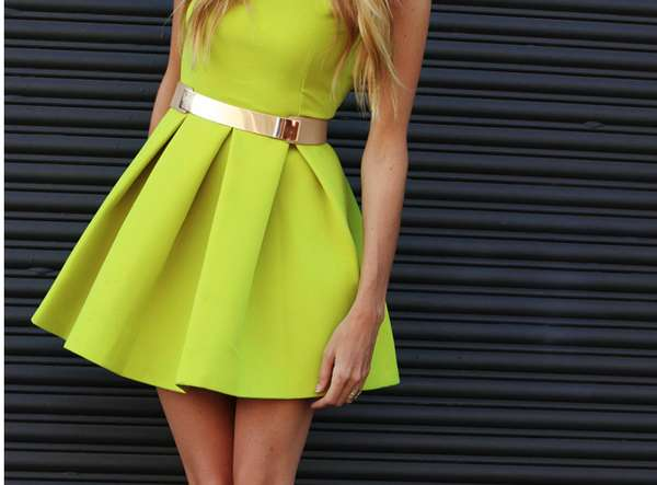 All-Fluorescent Dresses