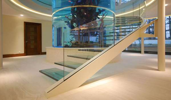 Cantilevered Transparent Staircases Aquarium Gleneagles