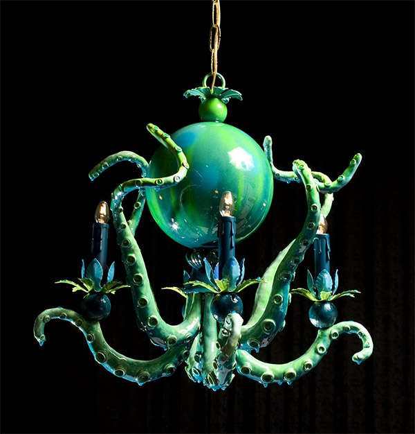 obscure octopus chandeliers aquatic decor