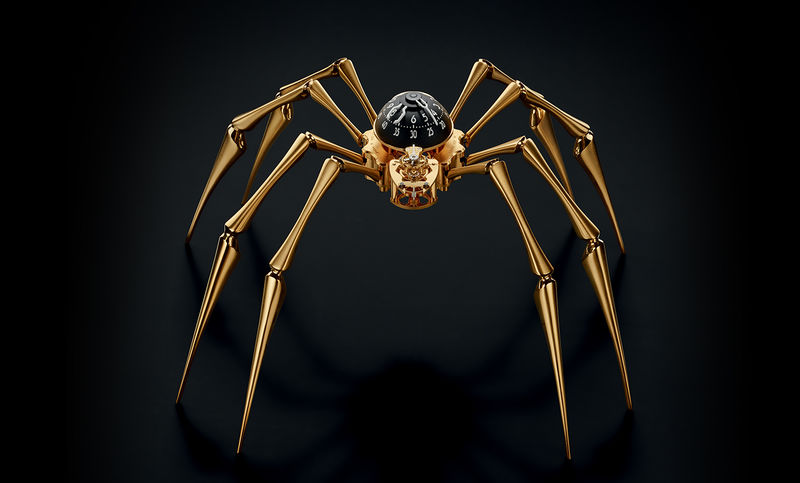 Luxurious Arachnid Clocks