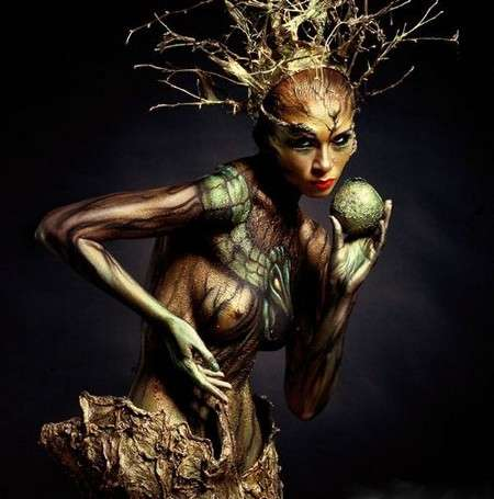 Arboreal Body Paint