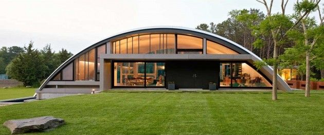 Arching Airplane Homes : arc house