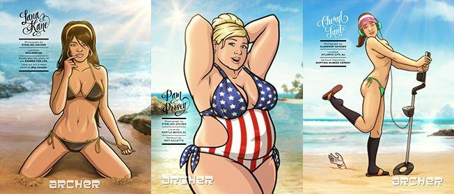 Cartoon Swimsuit Editorials