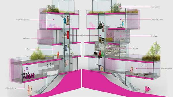 Luxe modern dollhouses architect barbie dreamhouse - Maison de reve barbie ...