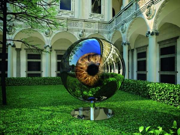 Reflective Eyeball Sculptures
