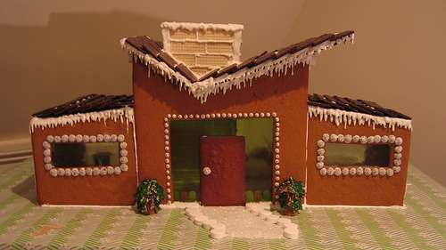 rchitectually-orrect Baking: Mid-entury Modern Gingerbread House - ^