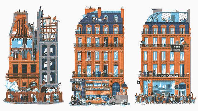 Nostalgic Architectural Illustrations