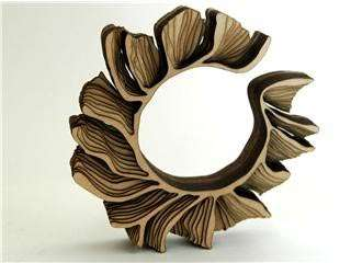 Architectural jewelry laser cut wooden bracelets by for Design di gioielli