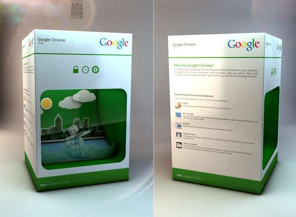 Pristine Search Engine Packaging