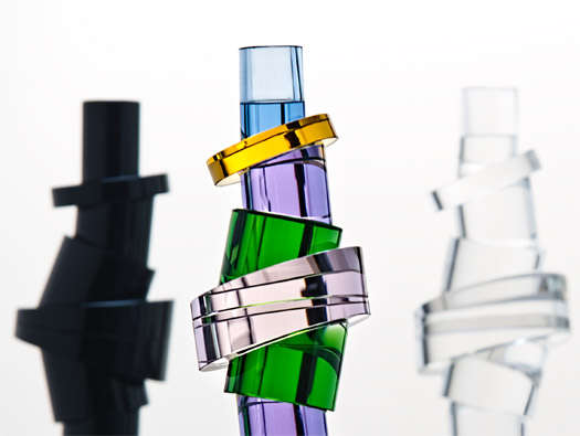 Topsy-Turvy Crystal Candle Holders