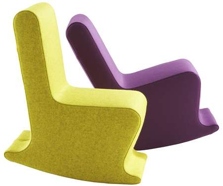 Armless Rocking Chairs Claudio Colucci S Dada And Mini