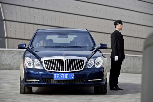 armored luxury maybach sedan