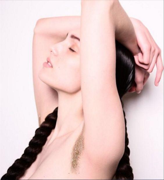 Glittered Armpit Hair