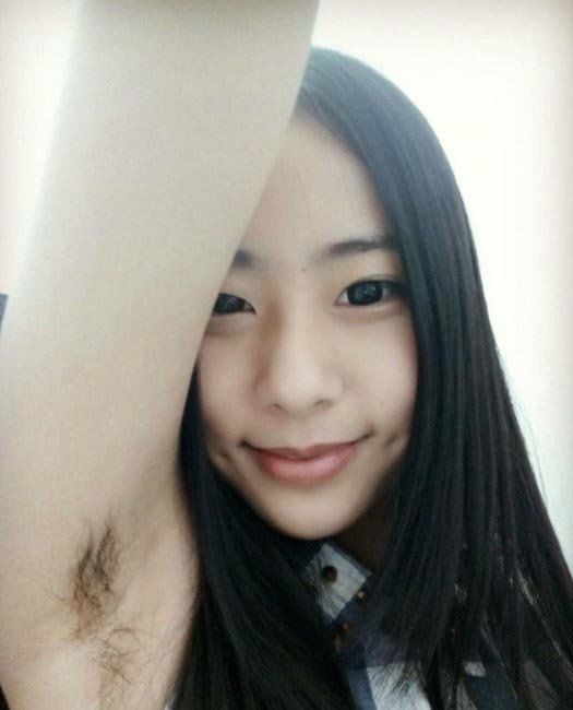Ungroomed Armpit Selfies