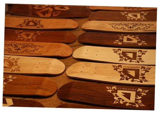 Hand-Stippled Skateboards