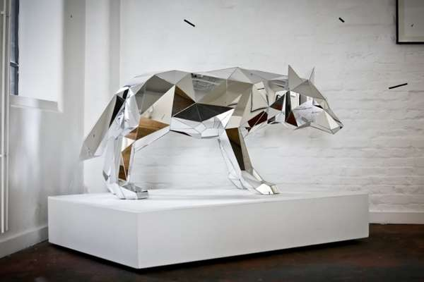 Mirrored Animal Sculptures