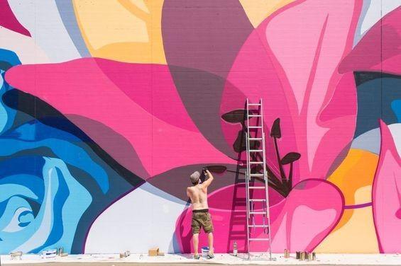 Prison Wall Graffiti Murals