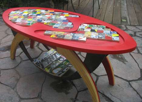 Shattered Skateboard Furniture