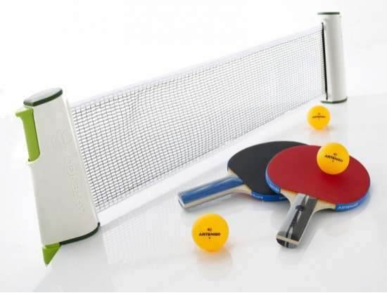 Portable ping pong the artengo rollnet is perfect for indoor winter activities - Table ping pong prix ...