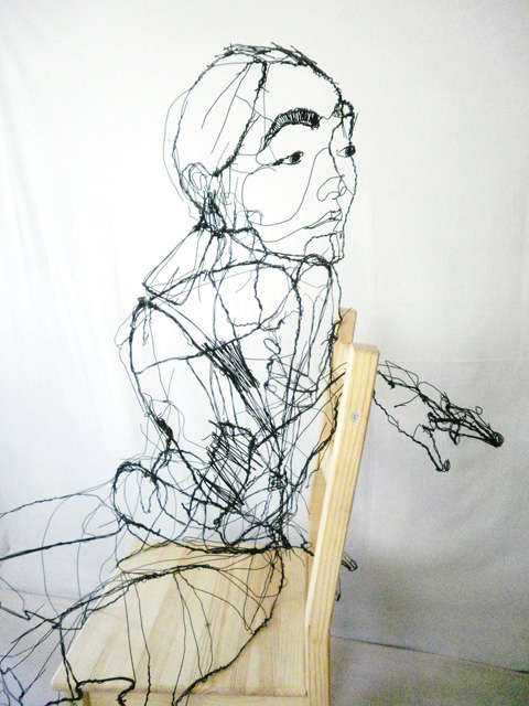 Wiry Human Sculptures