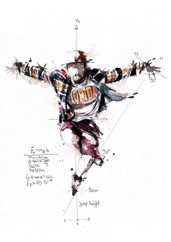 Scientific Break Dancing Drawings