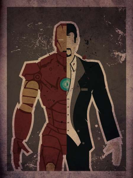 Dual Identity Superhero Prints