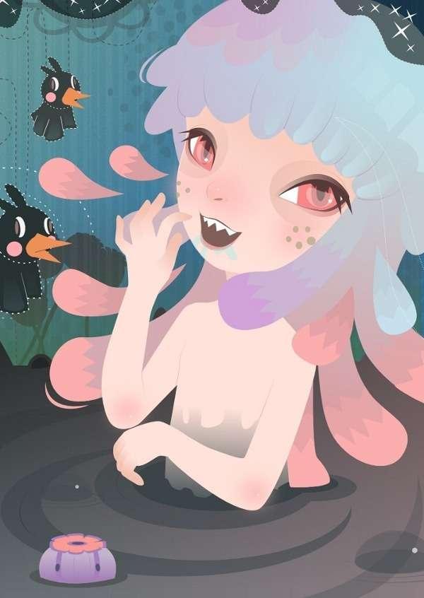 Ghoulishly Girly Drawings